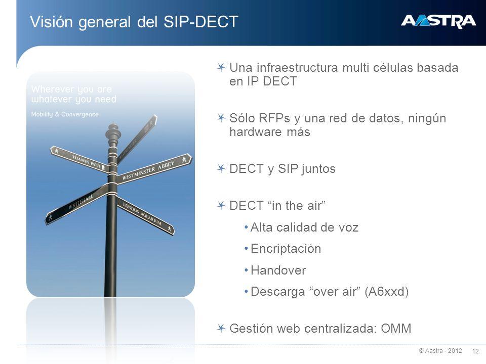 Visión general del SIP-DECT