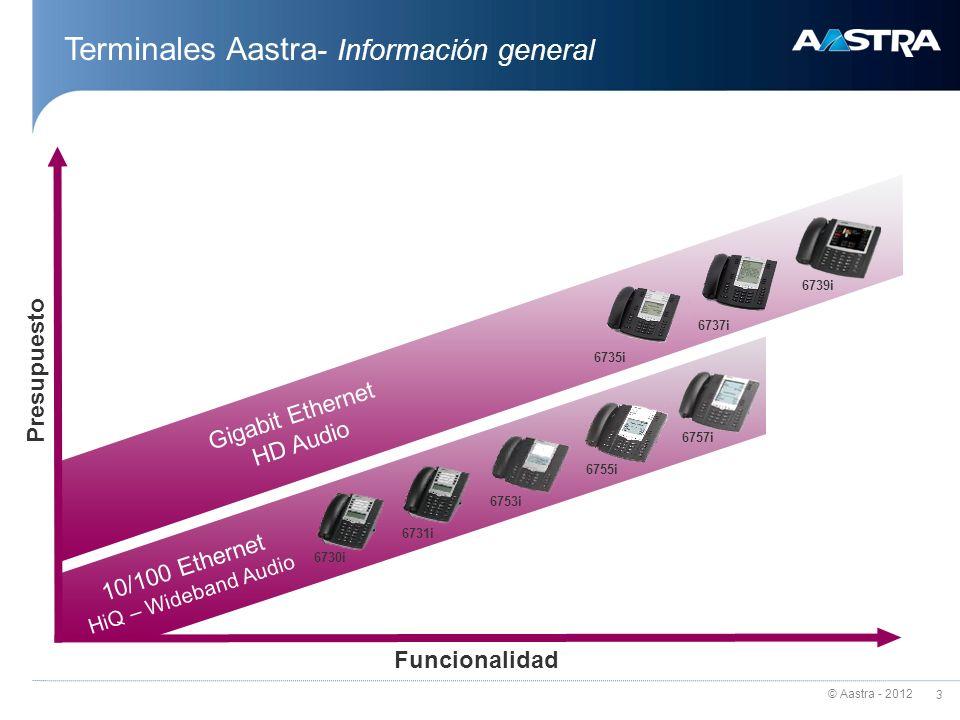 Terminales Aastra- Información general