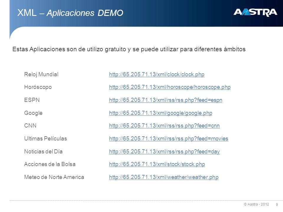 XML – Aplicaciones DEMO