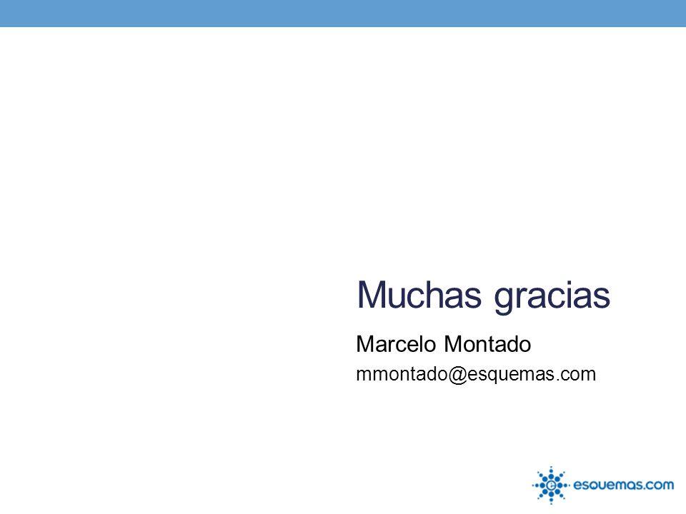 Muchas gracias Marcelo Montado mmontado@esquemas.com
