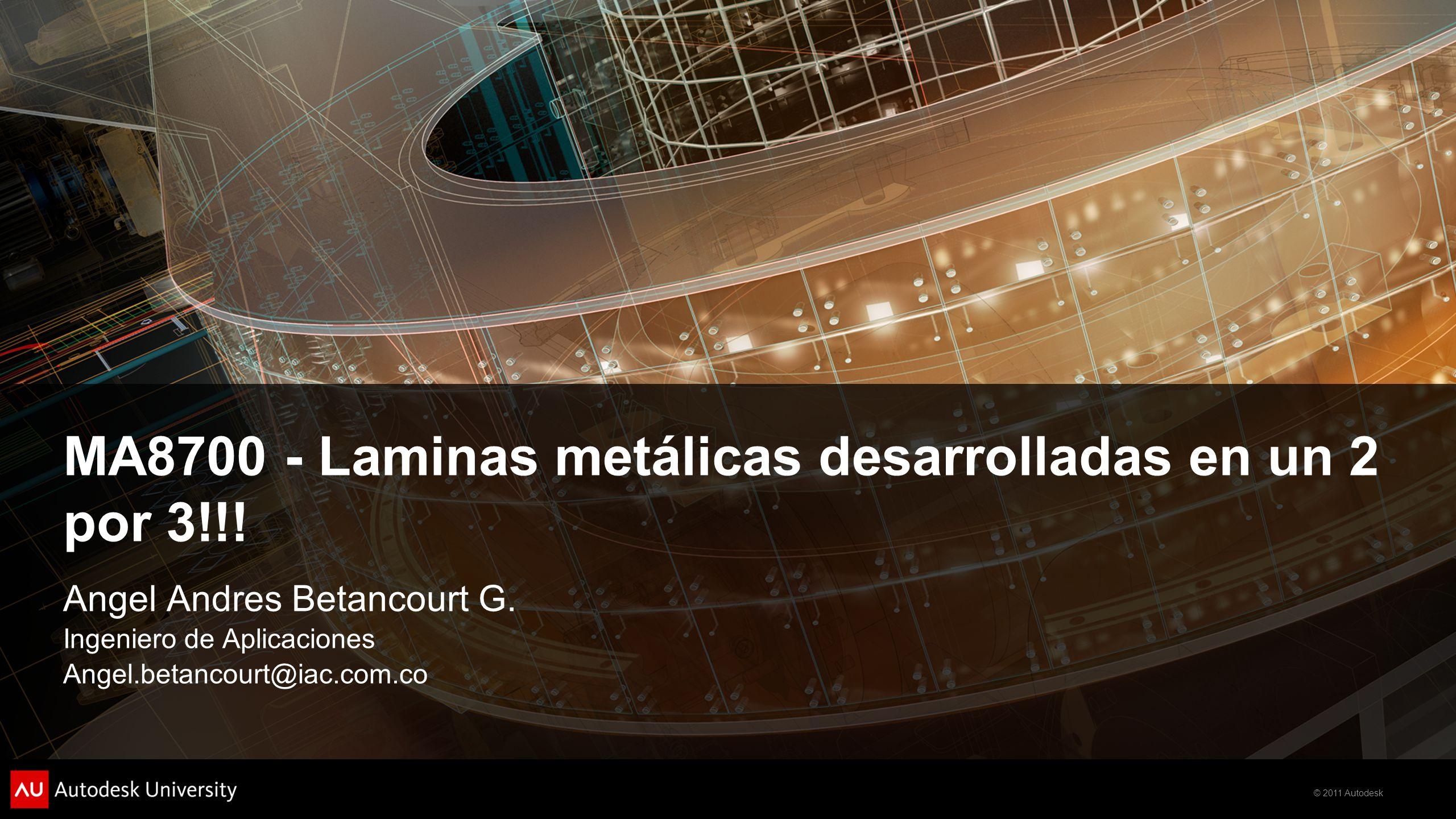 MA8700 - Laminas metálicas desarrolladas en un 2 por 3!!!
