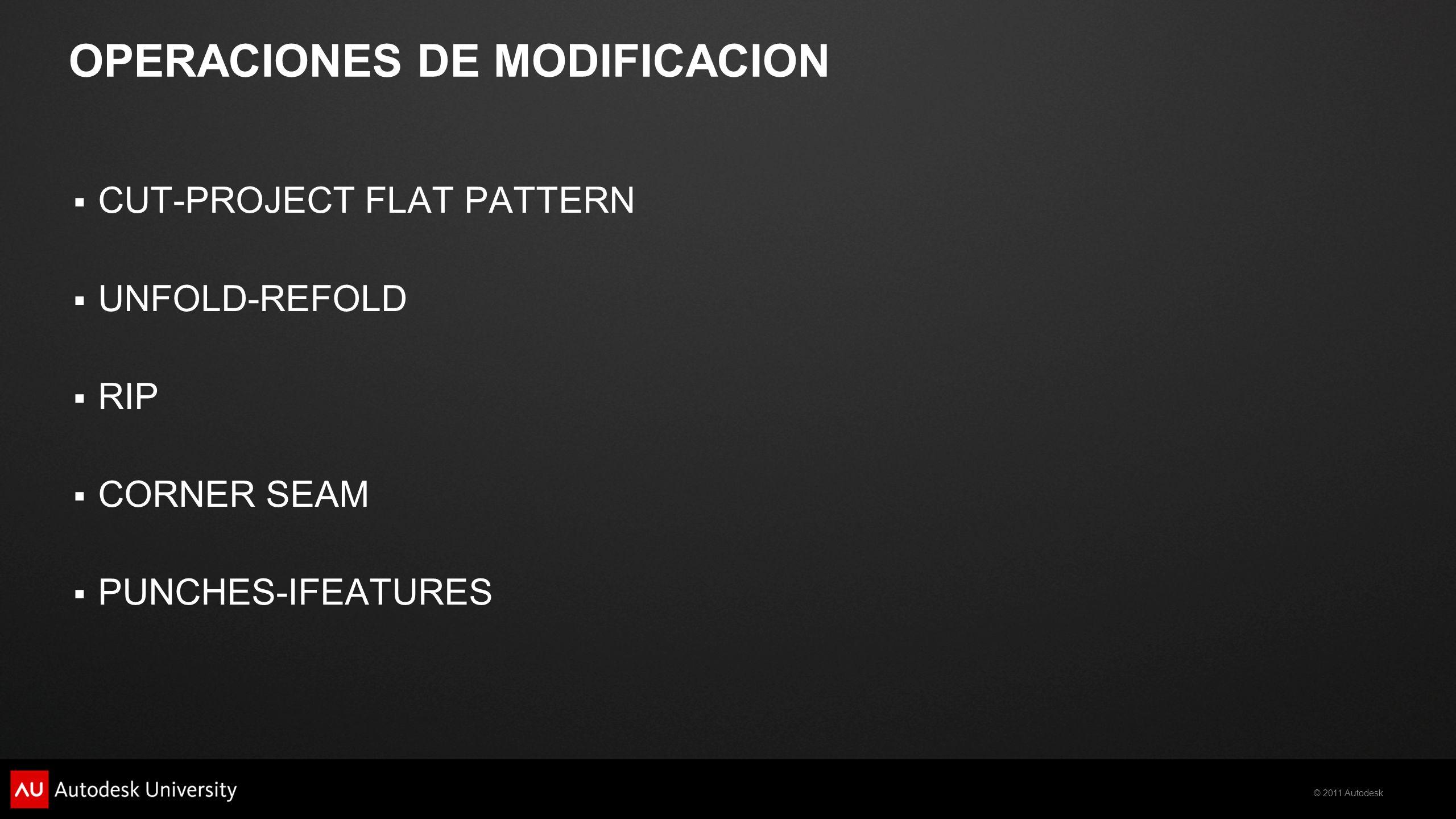 OPERACIONES DE MODIFICACION