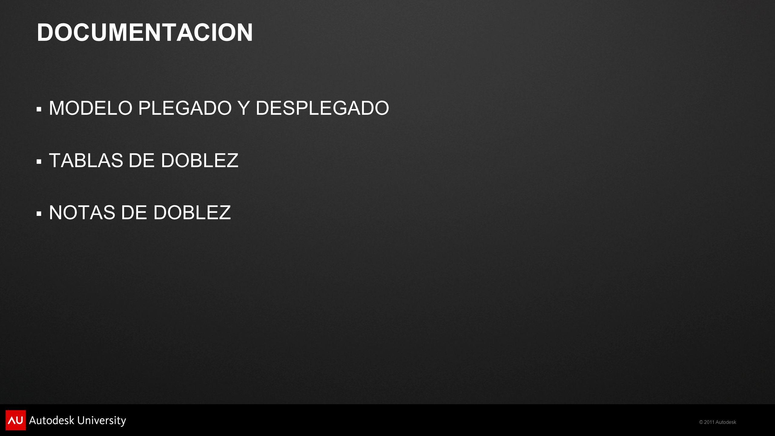 DOCUMENTACION MODELO PLEGADO Y DESPLEGADO TABLAS DE DOBLEZ