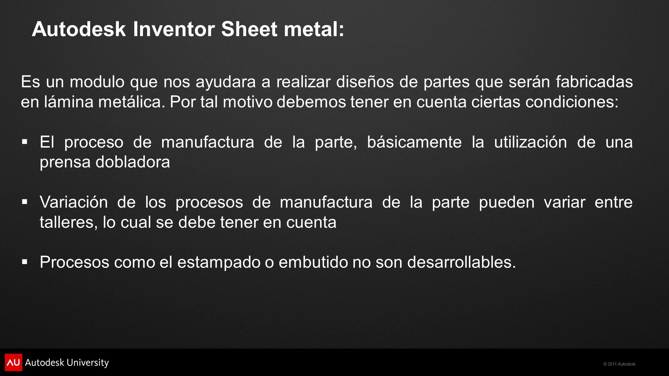 Autodesk Inventor Sheet metal: