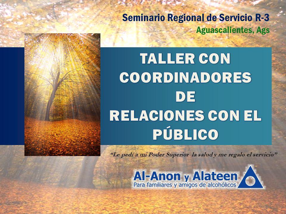 TALLER CON COORDINADORES RELACIONES CON EL PÚBLICO