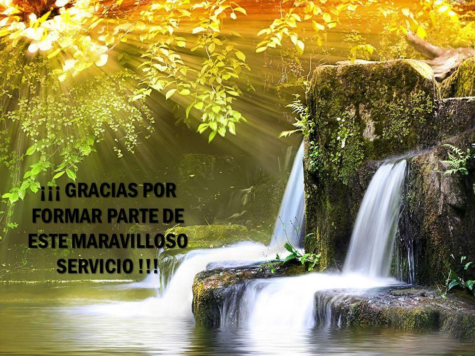 ¡¡¡ GRACIAS POR FORMAR PARTE DE ESTE MARAVILLOSO SERVICIO !!!