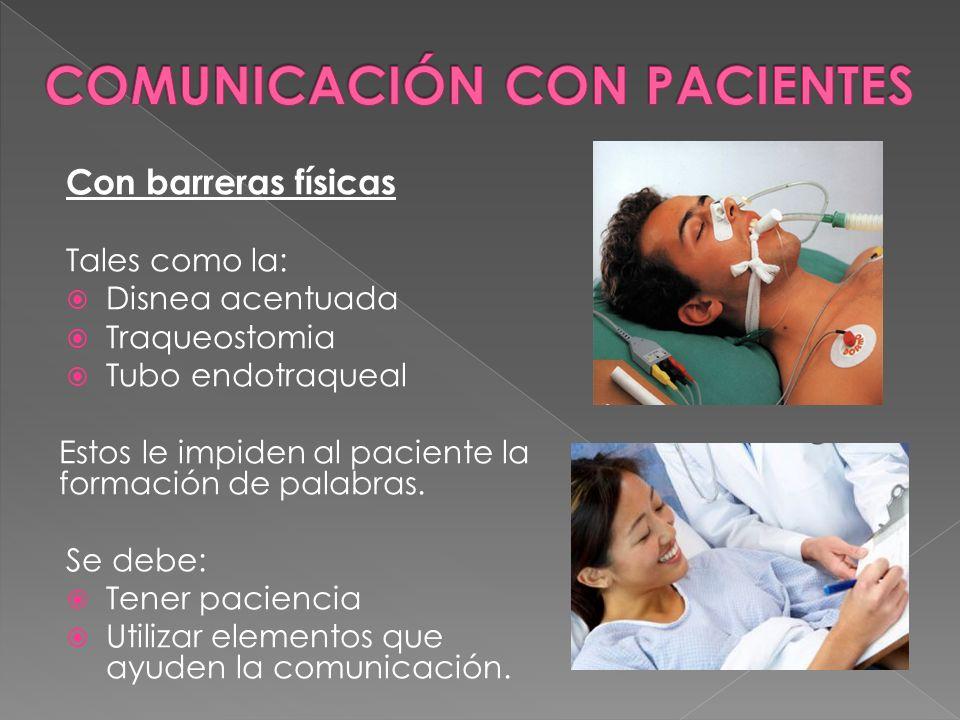 COMUNICACIÓN CON PACIENTES