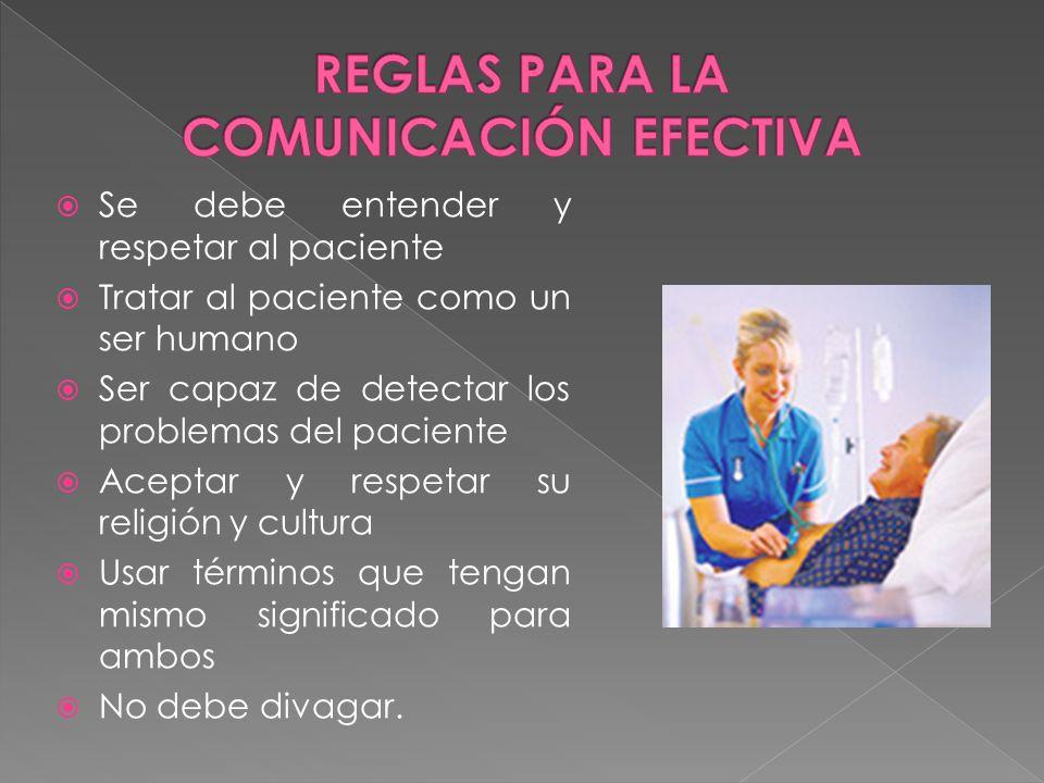 REGLAS PARA LA COMUNICACIÓN EFECTIVA