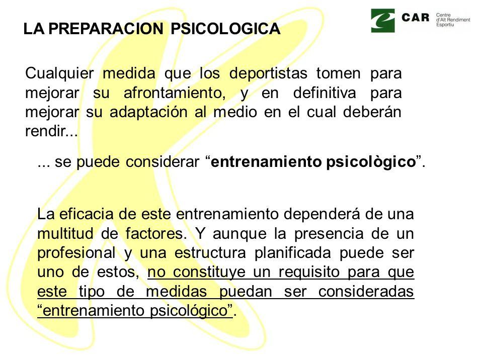 LA PREPARACION PSICOLOGICA