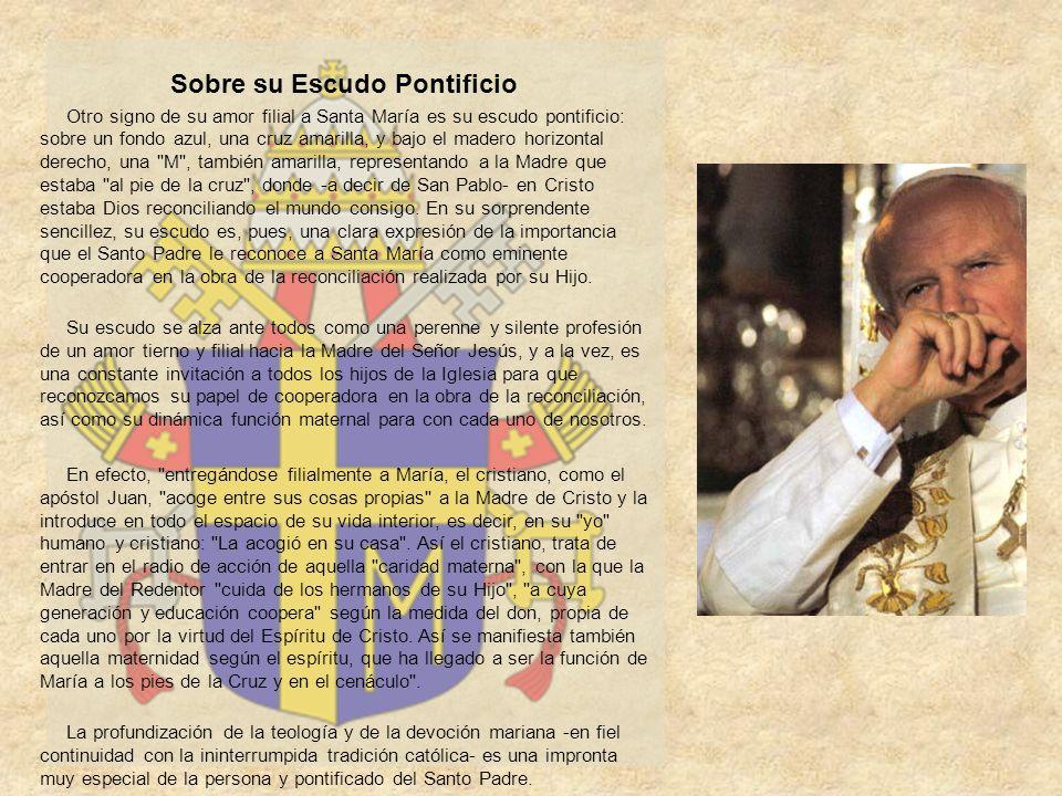 Sobre su Escudo Pontificio