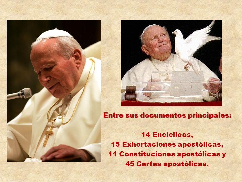 Entre sus documentos principales: 14 Encíclicas,