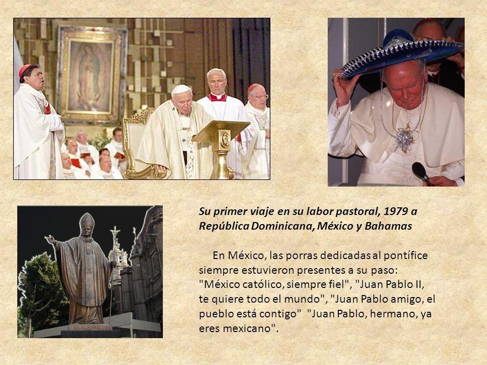 Su primer viaje en su labor pastoral, 1979 a República Dominicana, México y Bahamas