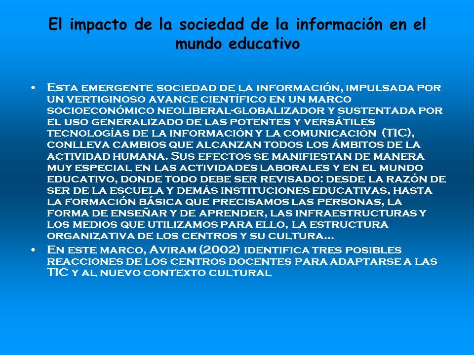 El impacto de la sociedad de la información en el mundo educativo