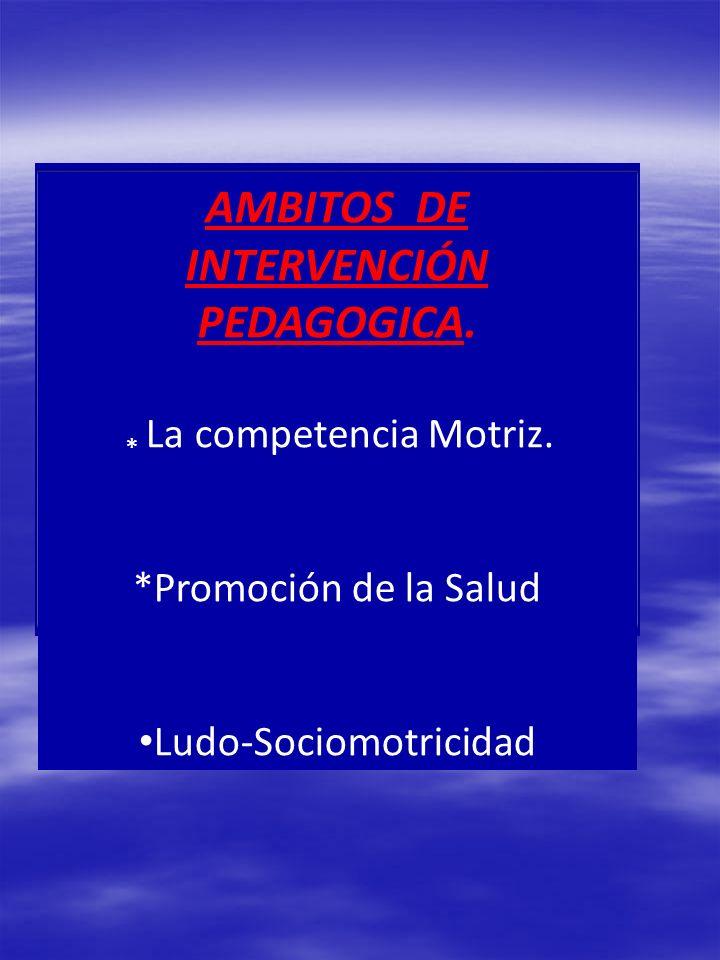 AMBITOS DE INTERVENCIÓN PEDAGOGICA.