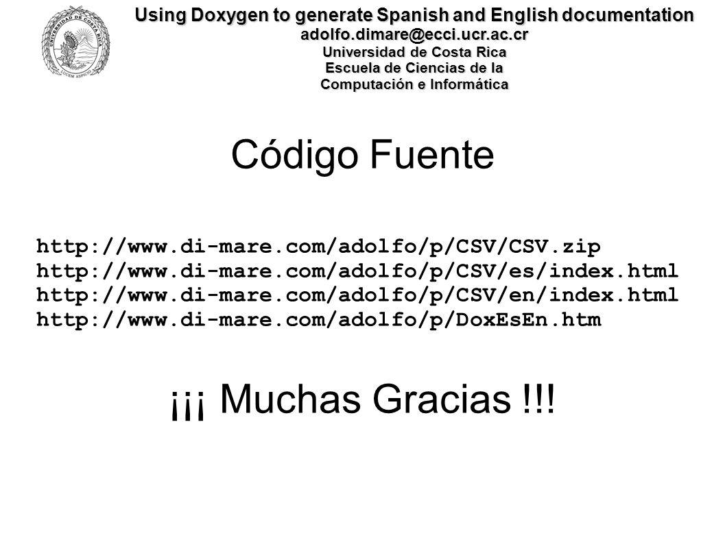 Código Fuente ¡¡¡ Muchas Gracias !!!