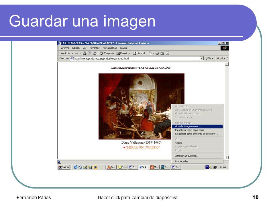 Hacer click para cambiar de diapositiva