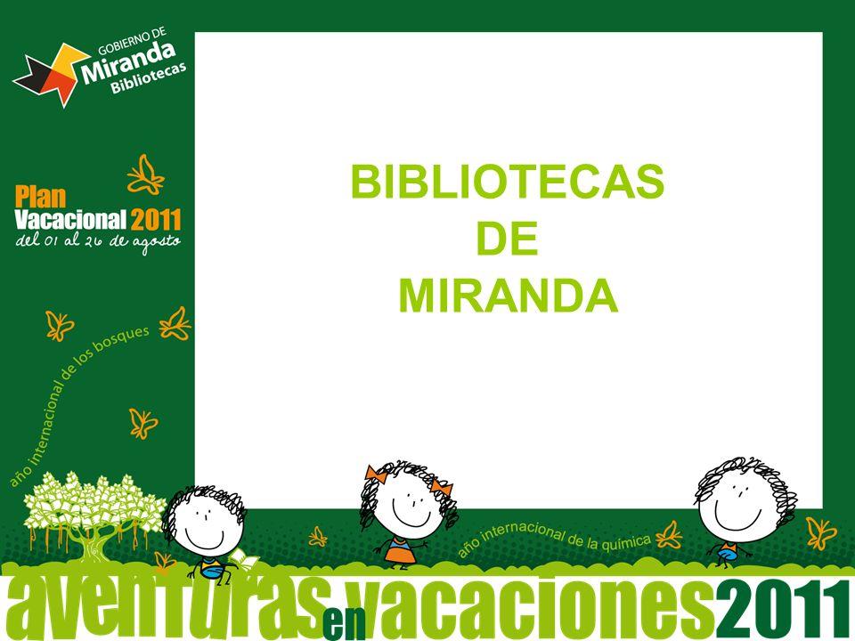 BIBLIOTECAS DE MIRANDA
