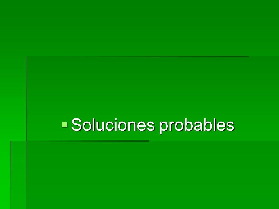 Soluciones probables