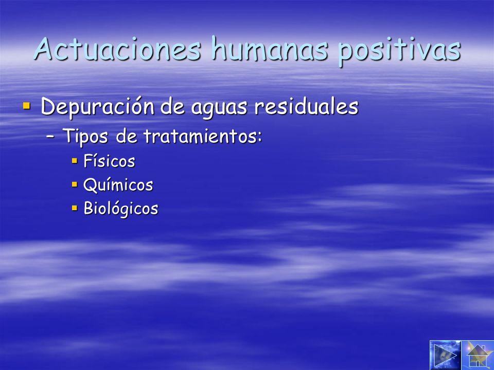 Actuaciones humanas positivas