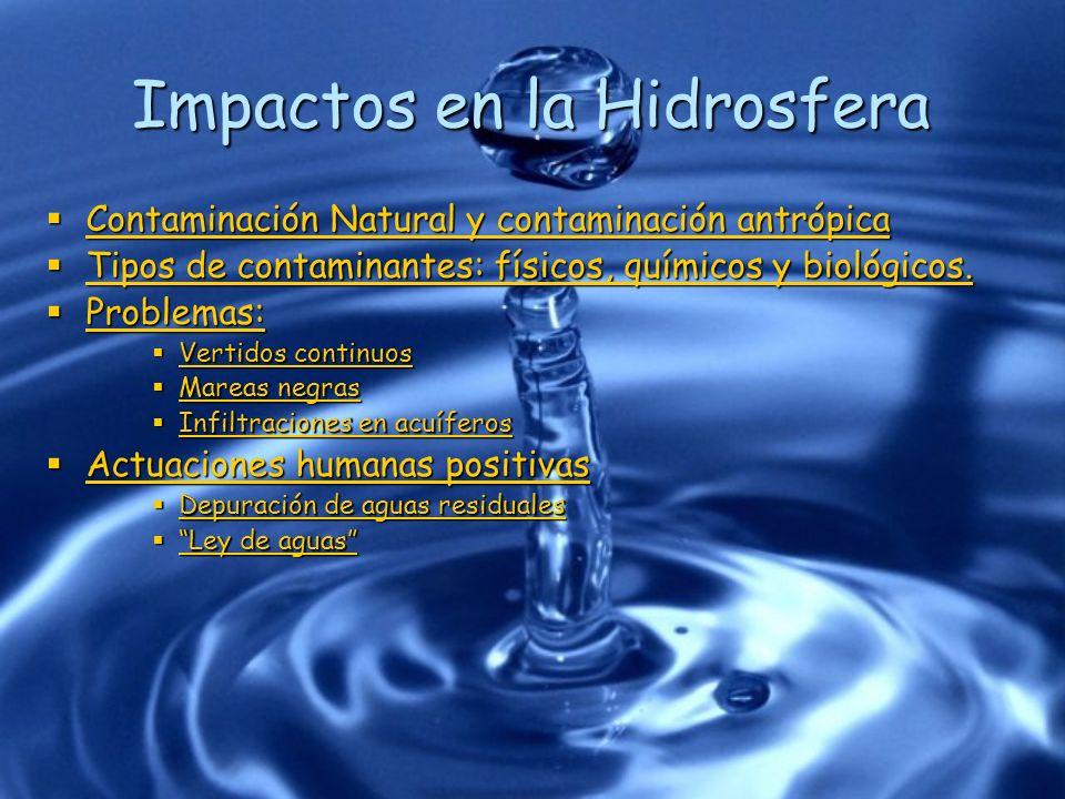Impactos en la Hidrosfera