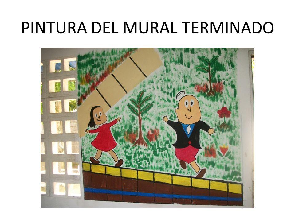 PINTURA DEL MURAL TERMINADO