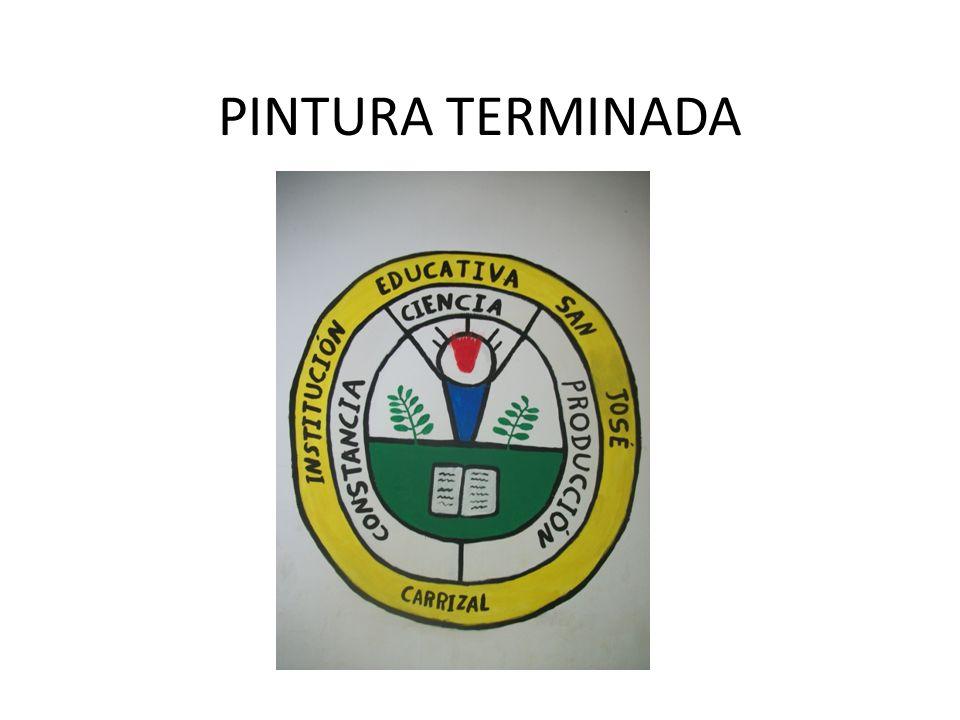 PINTURA TERMINADA