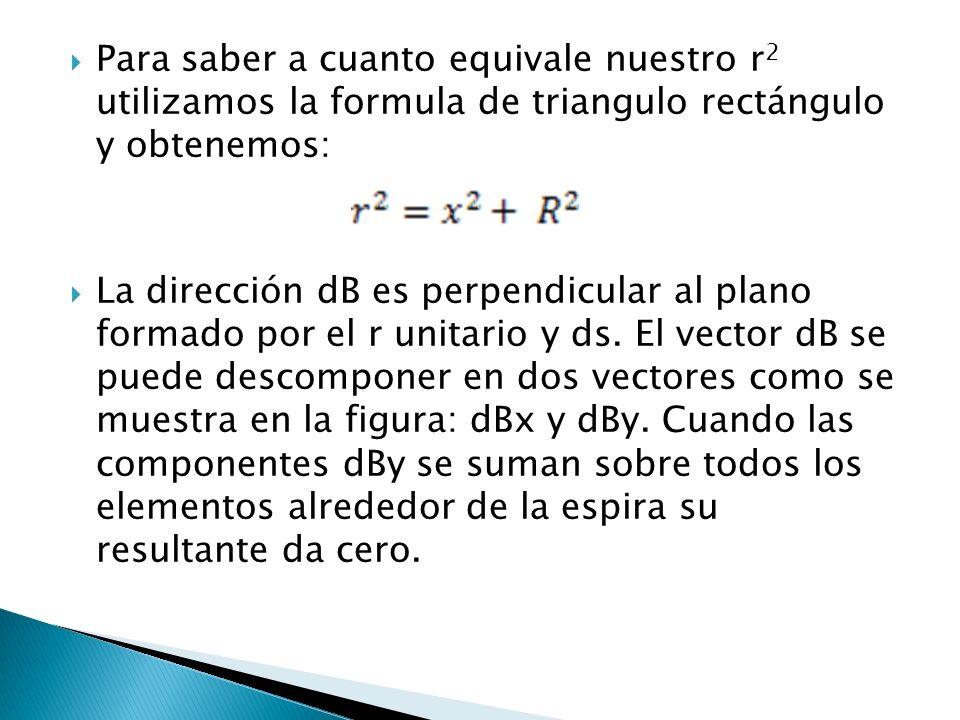 Para saber a cuanto equivale nuestro r2 utilizamos la formula de triangulo rectángulo y obtenemos: