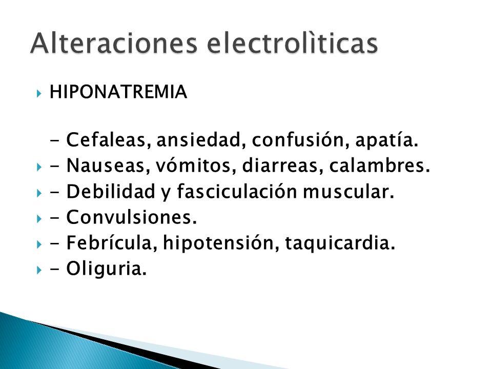 Alteraciones electrolìticas