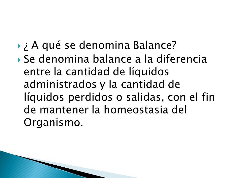 ¿ A qué se denomina Balance