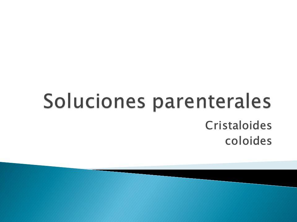 Soluciones parenterales