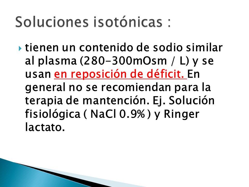Soluciones isotónicas :