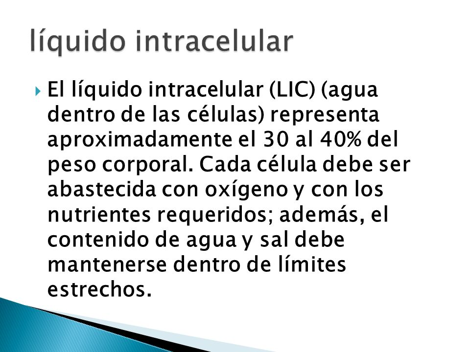 líquido intracelular