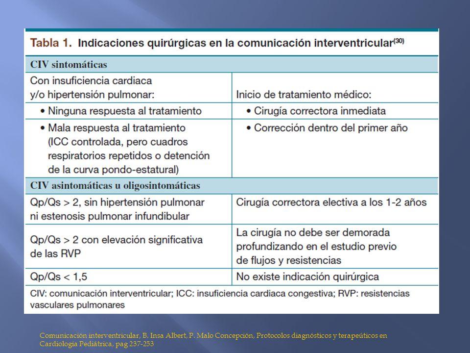 Comunicación interventricular, B. Insa Albert, P