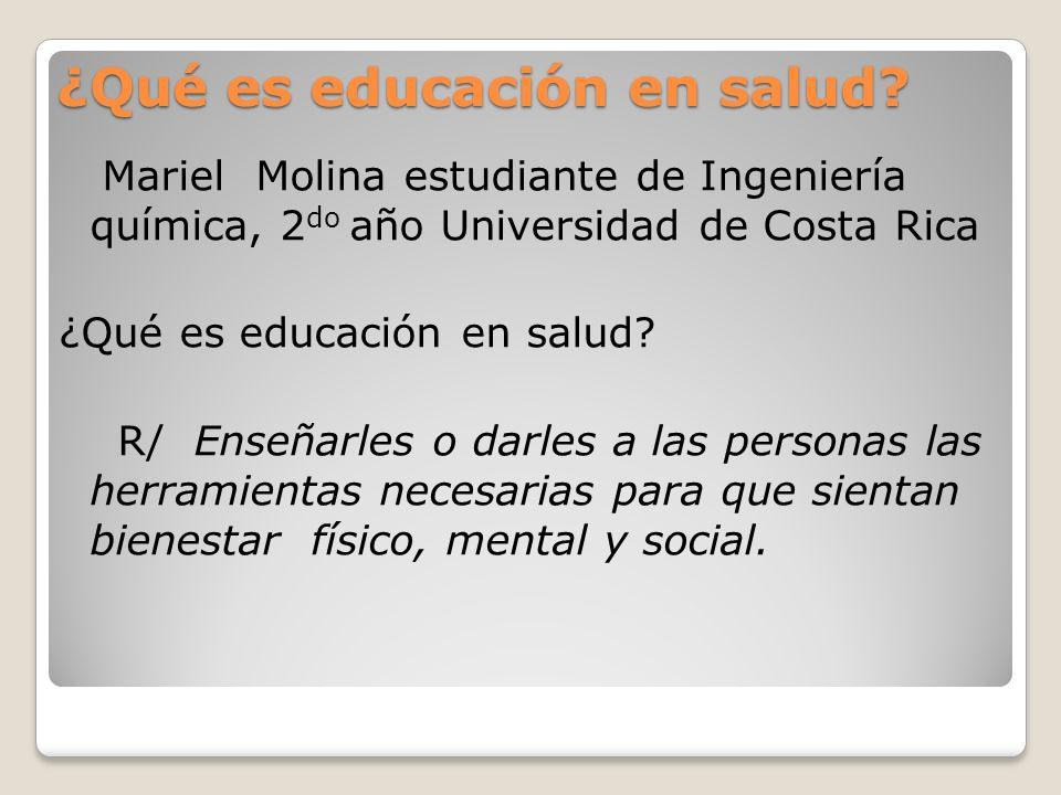 ¿Qué es educación en salud