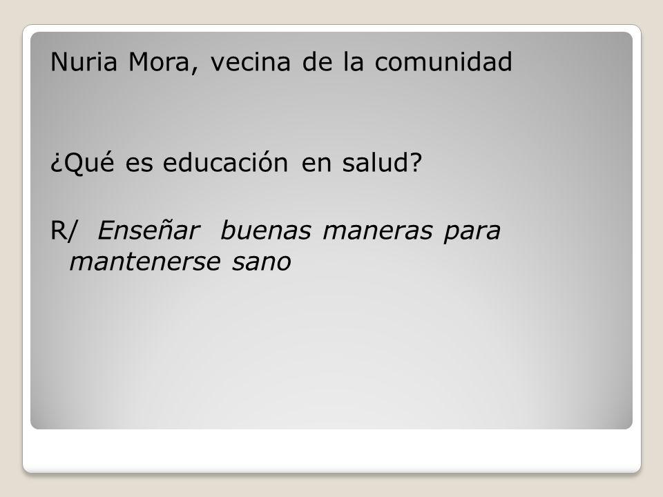 Nuria Mora, vecina de la comunidad