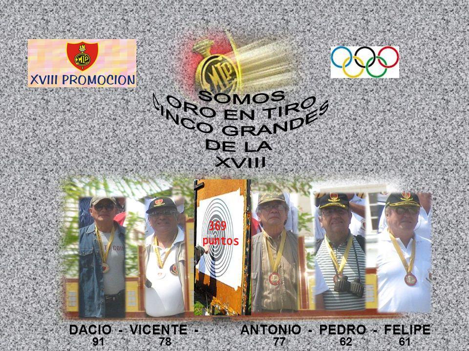 DACIO - VICENTE - ANTONIO - PEDRO - FELIPE