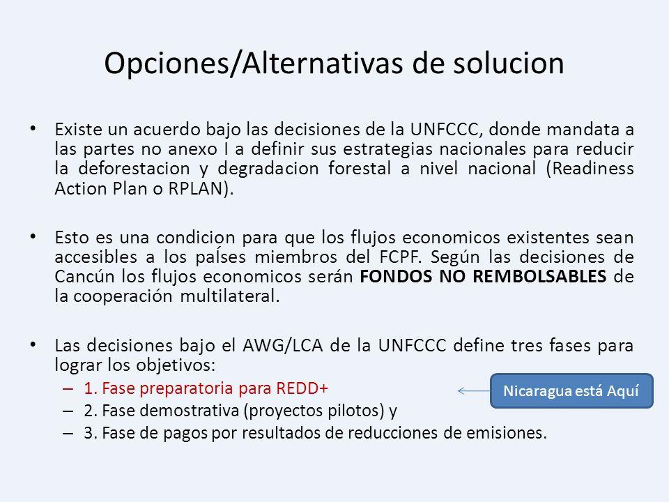 Opciones/Alternativas de solucion