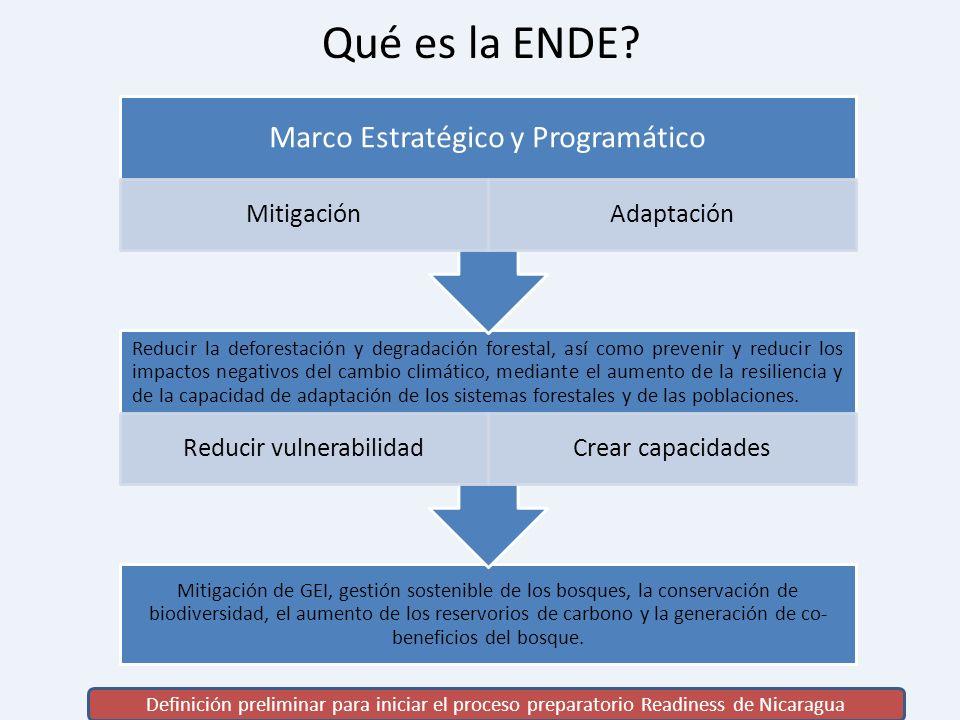 Qué es la ENDE Marco Estratégico y Programático Mitigación Adaptación