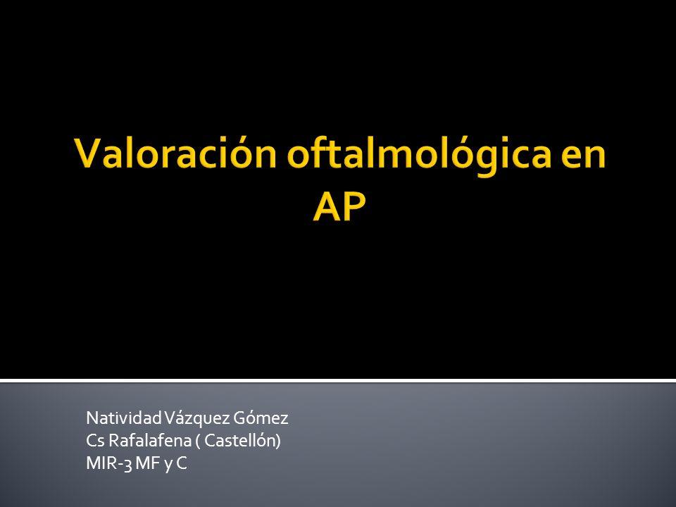 Valoración oftalmológica en AP