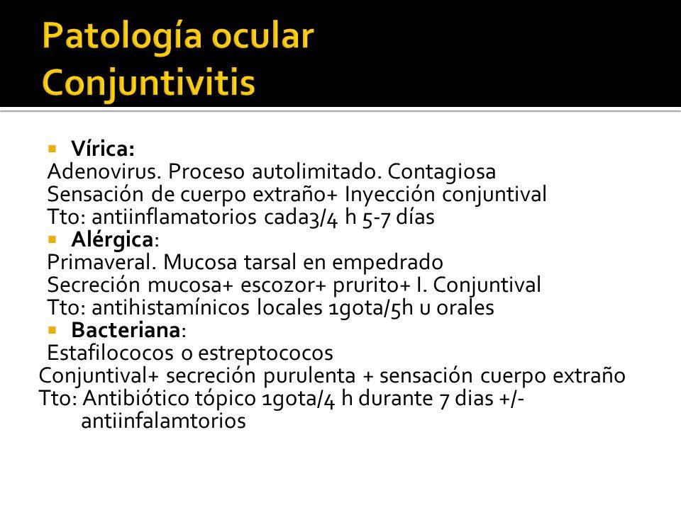 Patología ocular Conjuntivitis