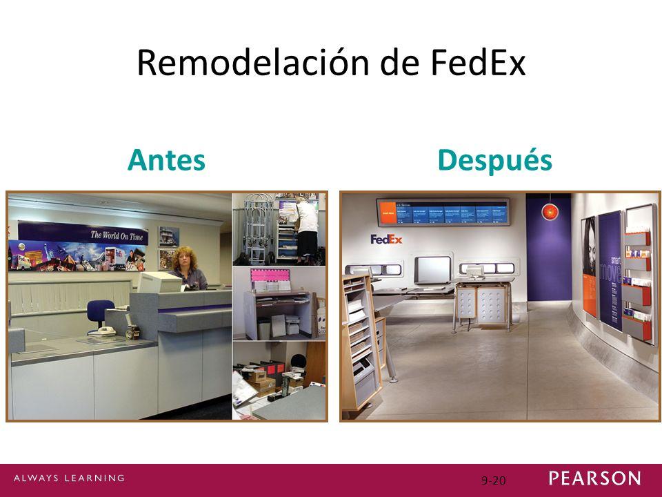 Remodelación de FedEx Antes Después