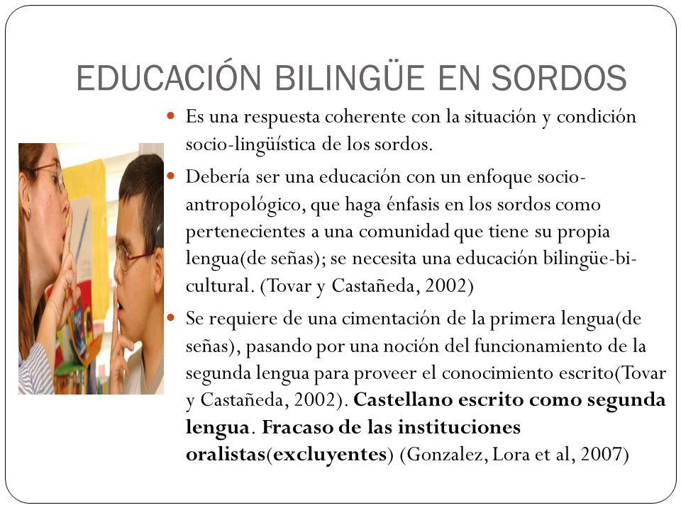 EDUCACIÓN BILINGÜE EN SORDOS
