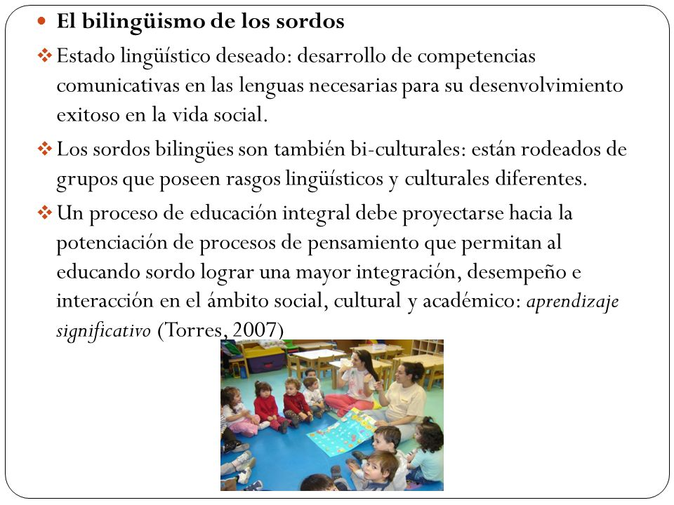 El bilingüismo de los sordos