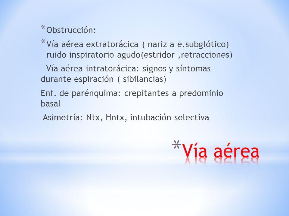 Vía aérea Obstrucción: