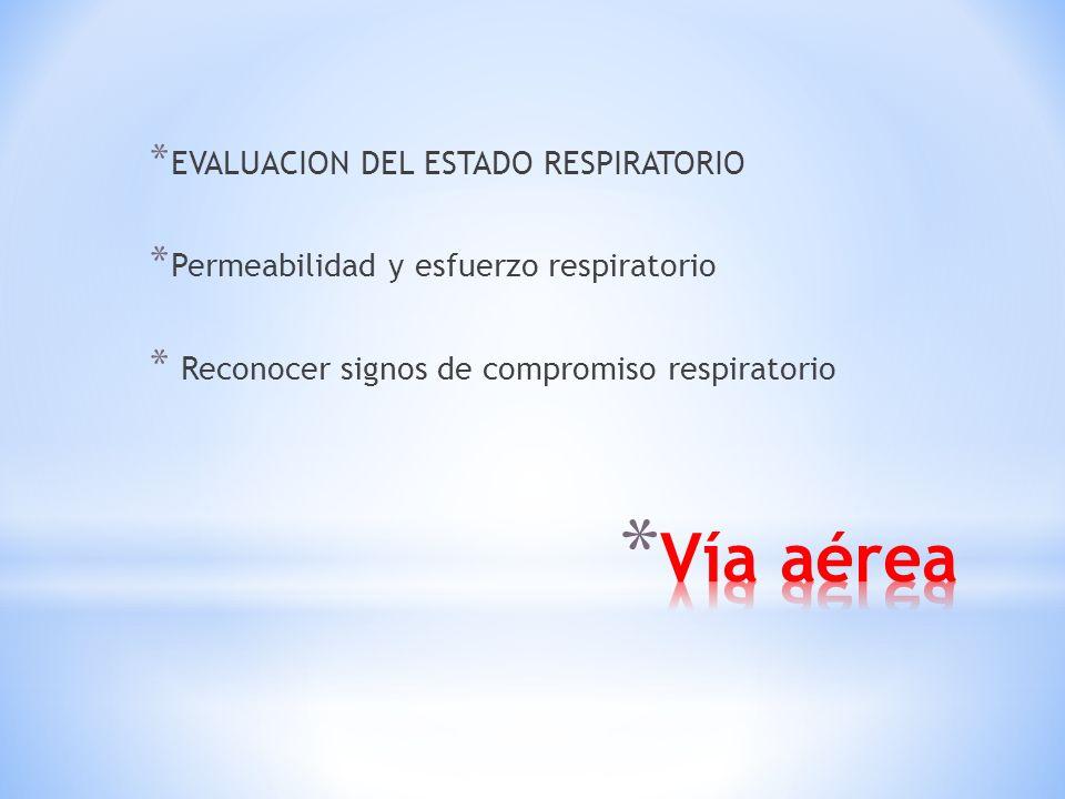 Vía aérea EVALUACION DEL ESTADO RESPIRATORIO