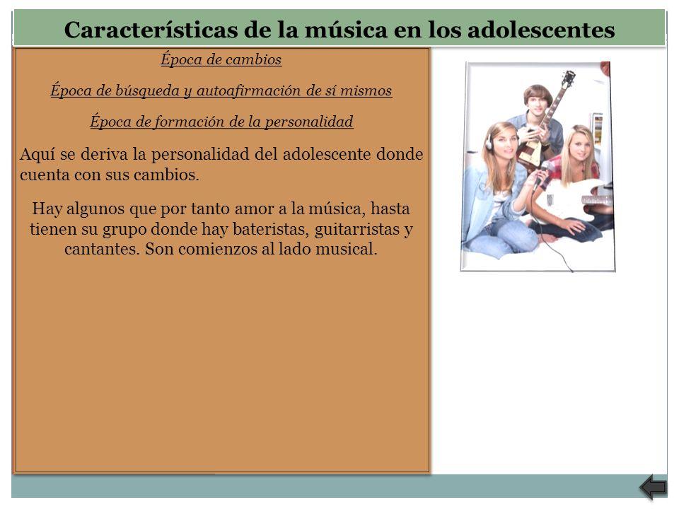 Características de la música en los adolescentes