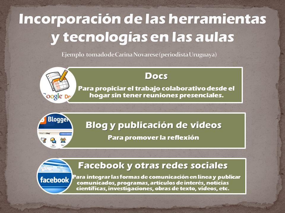 Incorporación de las herramientas y tecnologías en las aulas