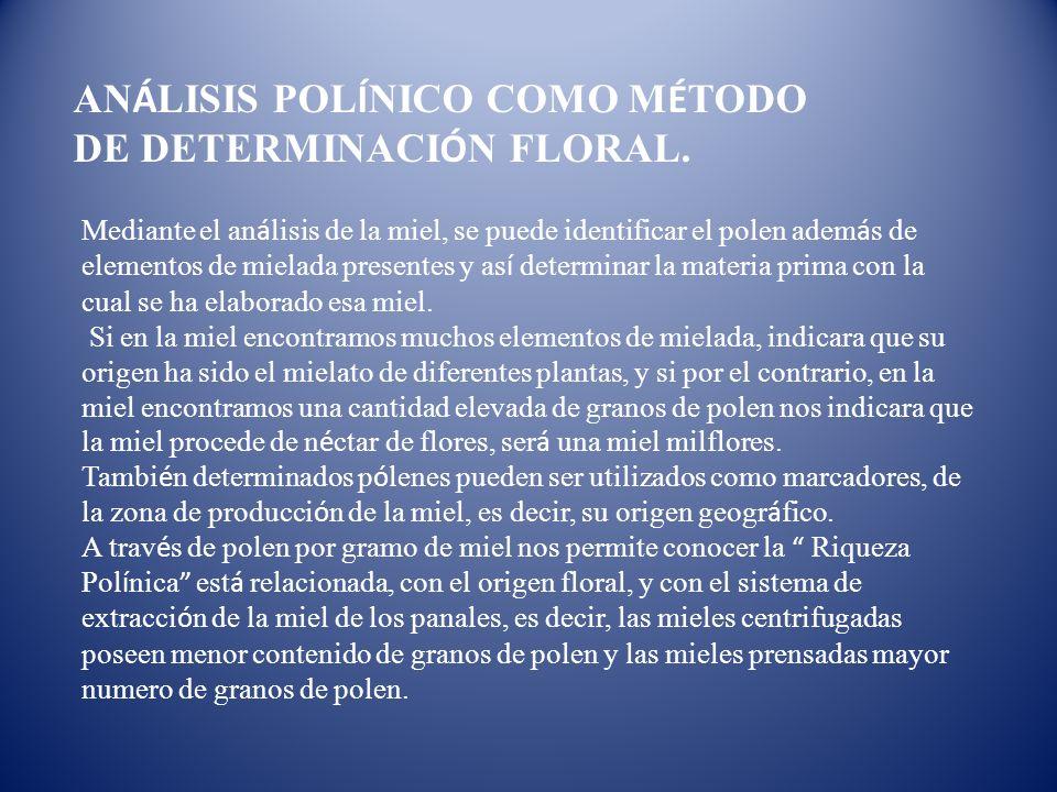 ANÁLISIS POLÍNICO COMO MÉTODO DE DETERMINACIÓN FLORAL.