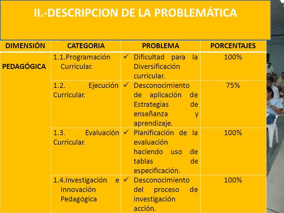 II.-DESCRIPCION DE LA PROBLEMÁTICA