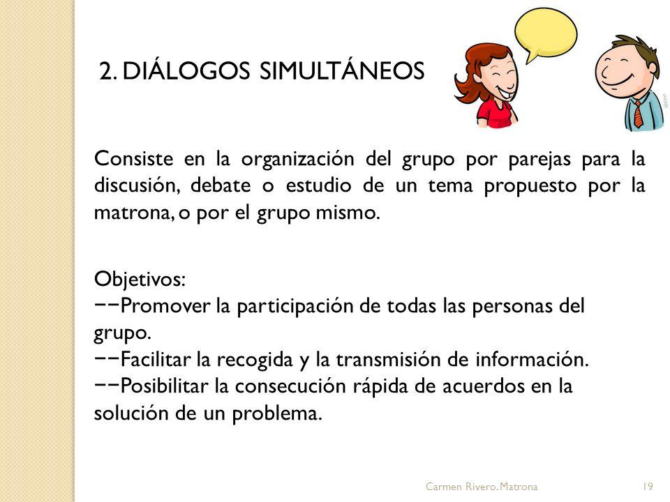 2. DIÁLOGOS SIMULTÁNEOS